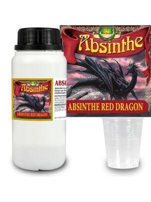 Absint Red Dragon essens 280 ml + 14 absintetiketter och mått